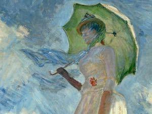 モネ 日傘の女