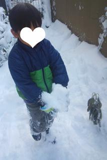 雪がいっぱいだー!