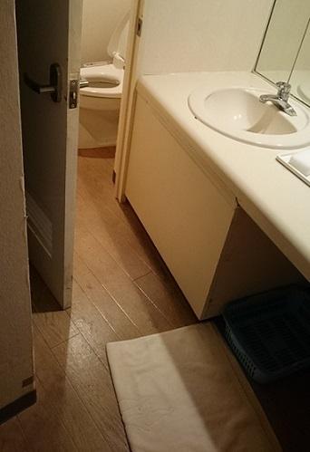 洗面、トイレ、浴室入り口