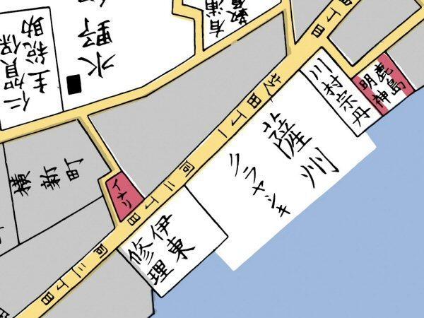 江戸切り絵図 薩摩蔵屋敷