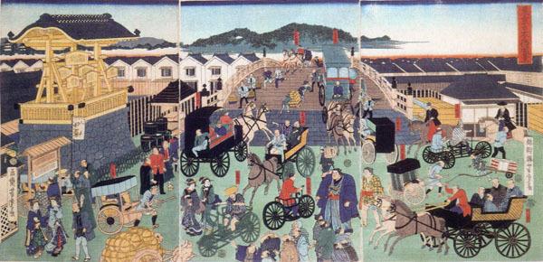 歌川芳虎「東京日本橋風景」 明治3 年(1870)_edited-1