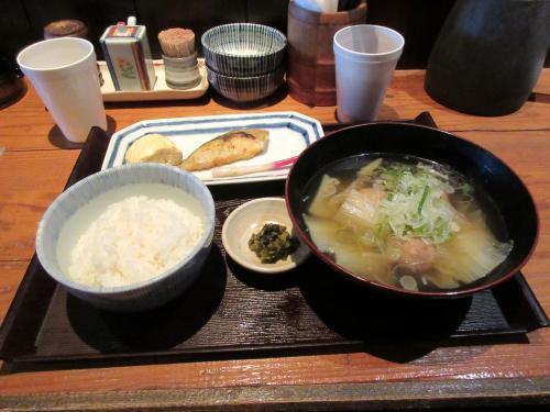 鰆の西京焼と鶏団子汁定食