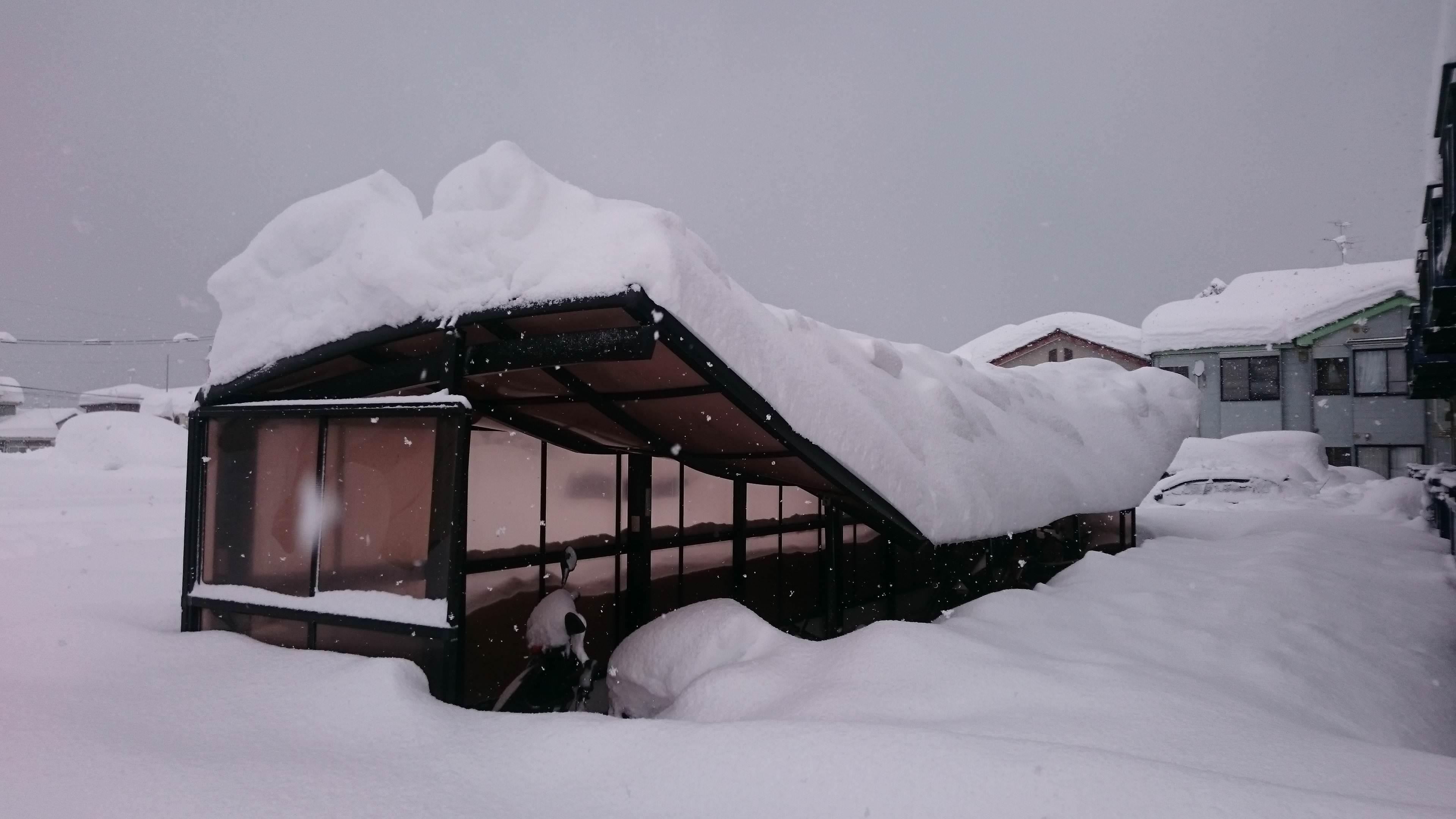 新潟市雪やばすぎてやべえええ絵w