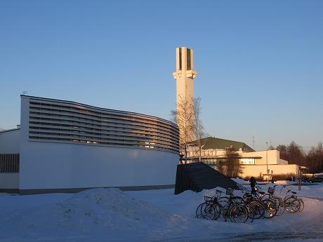 アールト図書館と時計塔