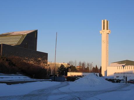 市庁舎と時計塔