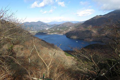芦ノ湖と金時山