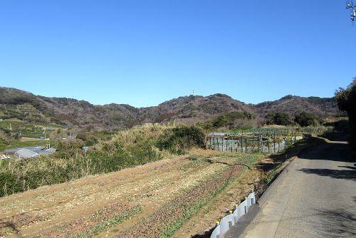 三浦富士から武山の山並み