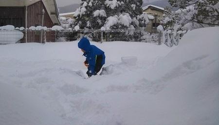 大雪 雪掻き 開始