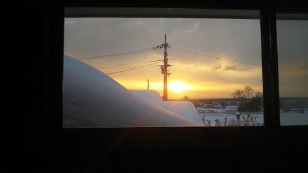 大雪後 朝日