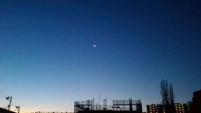 日の出 月 明けの明星