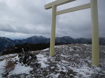 入道ヶ岳頂上1