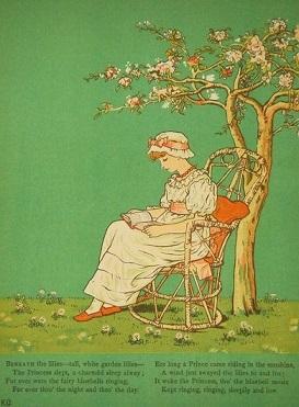 ケイト-グリーナウェイ-窓の下で-挿画本-木陰の王女様