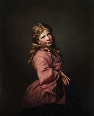 「少女」1863年サミュエル・バルーク・ハレ