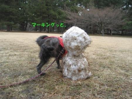 180115御所さんぽ④雪だるまとふうた