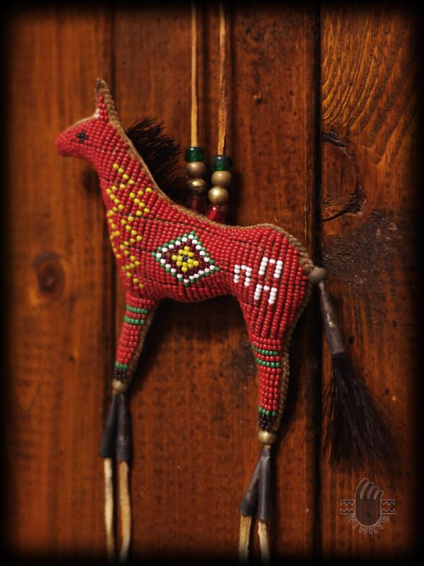 Beaded Horse Amulet 4