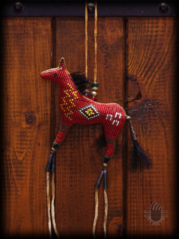 Beaded Horse Amulet 5
