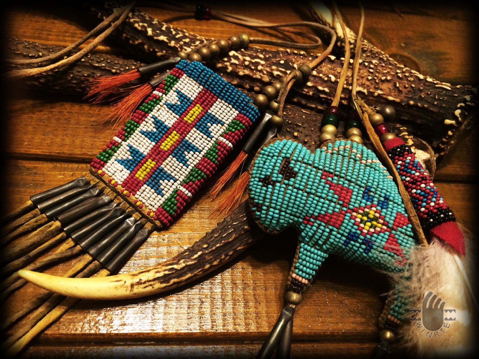 Beaded Dragonfly Medicine Pouch 3