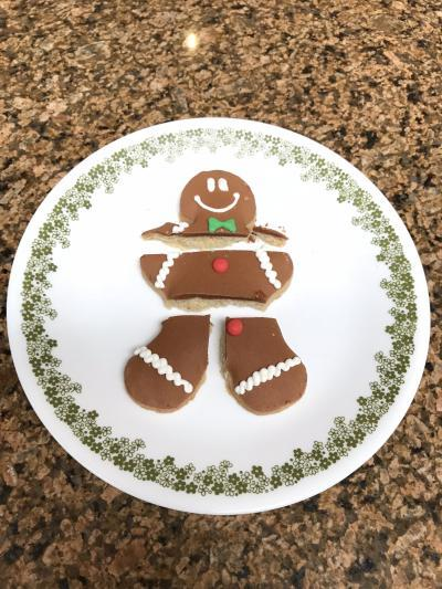 1/8/18 Dinner Gingerman Cookie