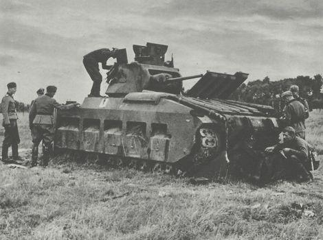 """Infantry Tank Mark II Matilda_1940_Arras_SS-Div""""Totenkopf"""""""