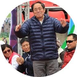 ④日本選手団団長(新谷さん)