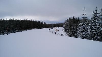 裏摩周展望台道路冬1