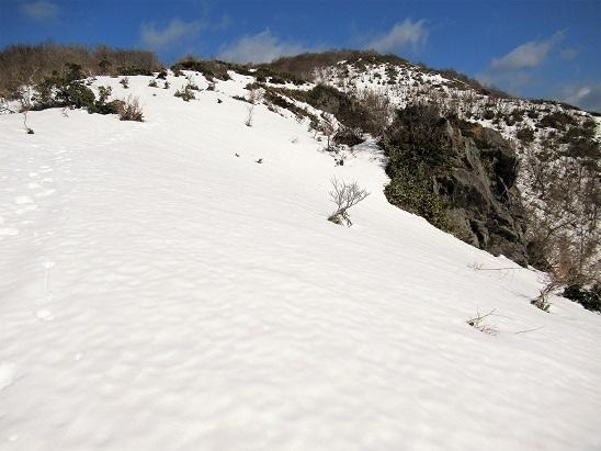 2安蔵寺山稜線