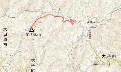 7奥の金山地図
