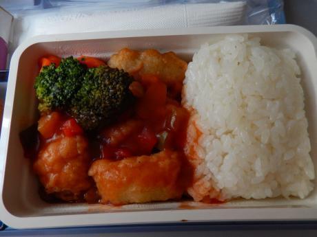 台北2017.7チャイナエアライン機内食