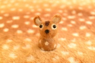 羊毛フェルトバンビ1
