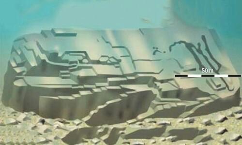 海底遺跡の全体像