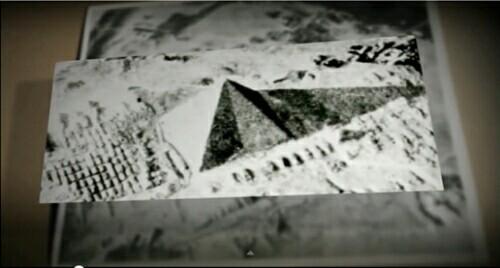 大ピラミッドに影が現れた様子