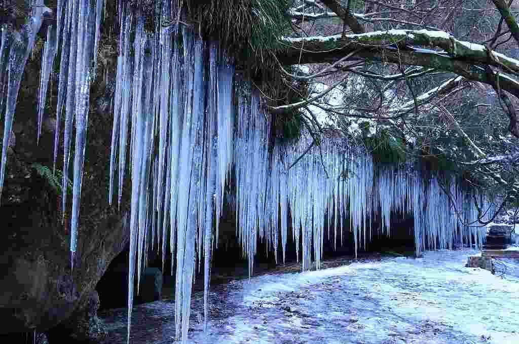 滑川渓谷氷柱1