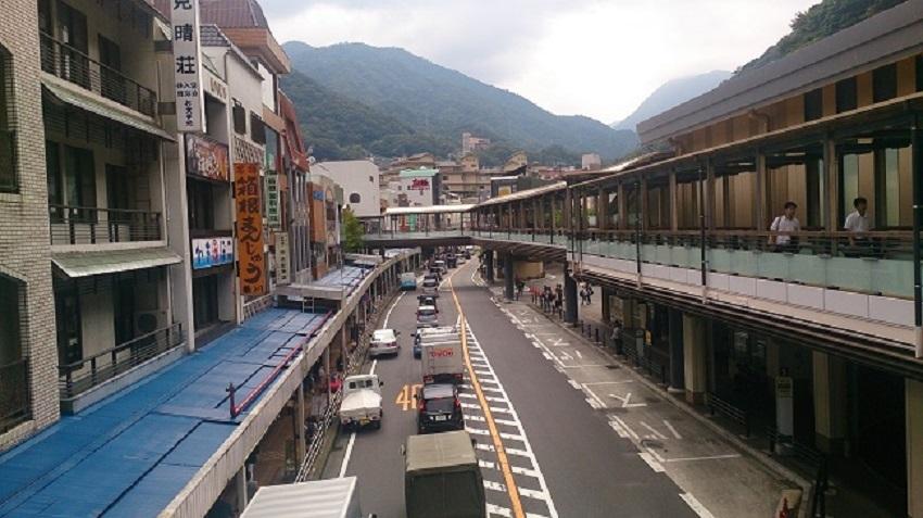 箱根湯本 町並み