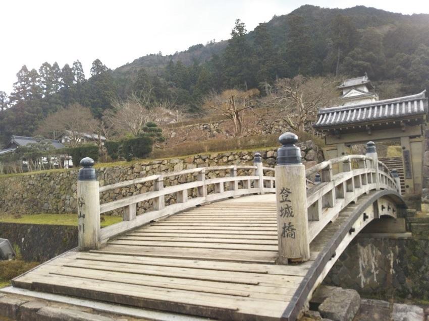 出石城址 橋