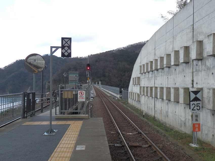 駅から見る余部鉄橋