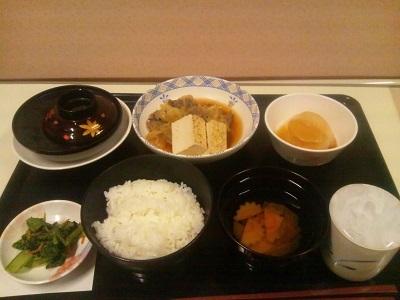 2012年1月19日病院食(夕食)