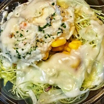 松屋の「鶏ささみステーキ定食」をポテトサラダ付きでテイクアウトしてみたら...