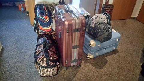 荷造り完了