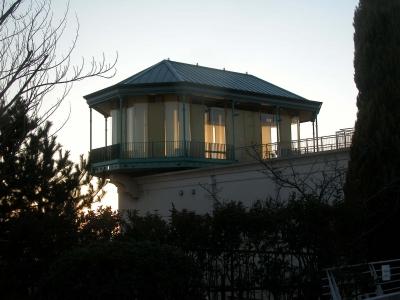 180204 夕陽の中の東屋