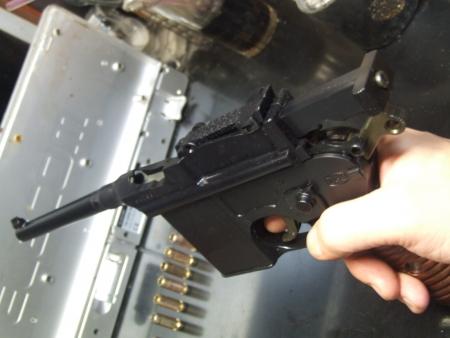 マウザーC96/M712⑤ ボルト後退状態