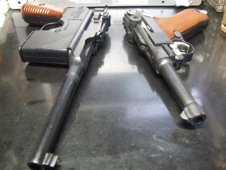 マウザー&ルガー 「剥き出しの内蔵」銃
