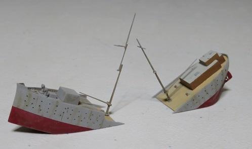 沈む商船塗装