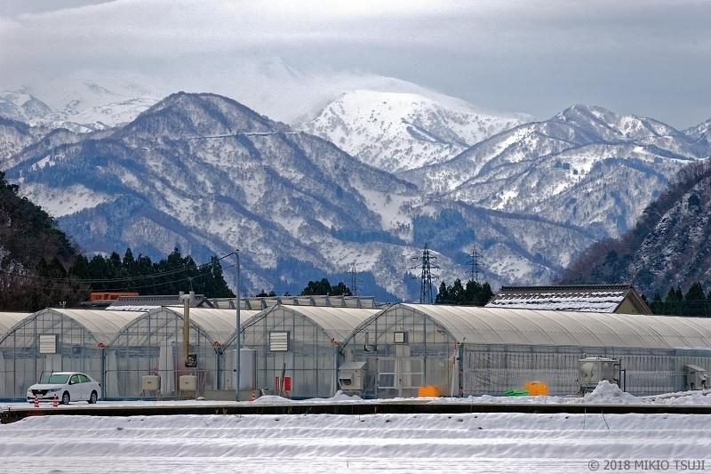 絶景探しの旅 - 0455 白山麓からの白山冬景色 (石川県 白山市)