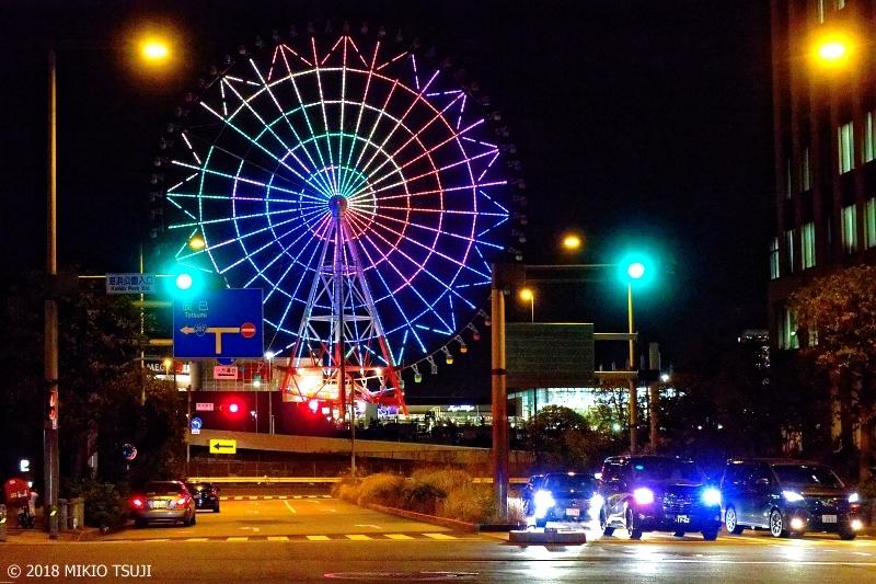 絶景探しの旅 - 0477 パレットタウン大観覧車 夜のお台場海浜公園前 (東京都 港区)