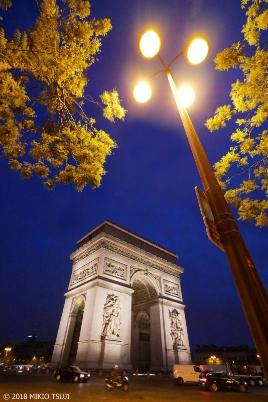 絶景探しの旅 - 0480 夜明け前のエトワール凱旋門 (フランス パリ)