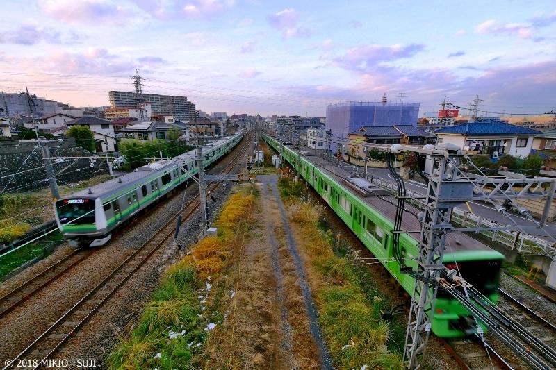 絶景探しの旅 - 0491 グリーンの競演 八王子に向って並走する横浜線と京王線 (東京都 八王子市)